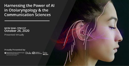 Harnessing the power of AI for improving care in otolaryngology & communication sciences flyer